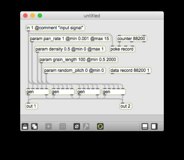 Reverb Granulator main Gen patch