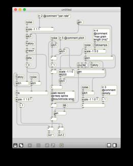 Reverb Granulator single voice